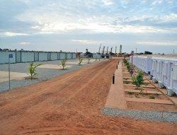 התקנה של בקתות ניהול מודולרי הושלמה בסנגל