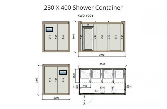מכולת מקלחת kw4-230x400