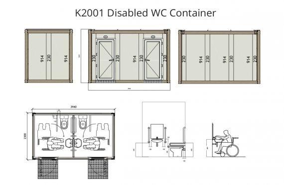 K2001 מכולת שירותי-נכים