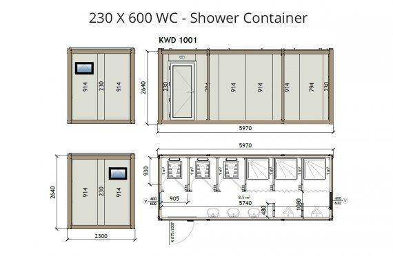 kw6-230x600-מכולת שירותים-מקלחת