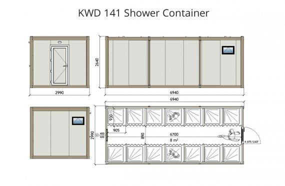 kwd 141 - מקלחת - מכולה