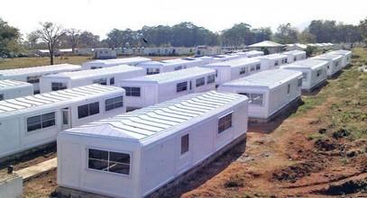 בקתות מגורים של Karmod עבור משגיחי השלום של האו